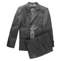 Kids Two Button Poly/Wool Suit