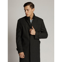 BENTLEY Melton Regular Fit Coat Jacket (BLACK)