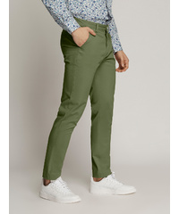LEDGER Peach Finish Fine Cotton Drill Chinos (OLIVE)