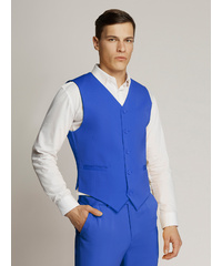 AMBASSADOR COLLECTION VEGAS Fine Twill Plain Regular Fit Waistcoat (ROYAL BLUE)
