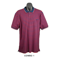 Summer Cotton Stripes Short Sleeve Polos