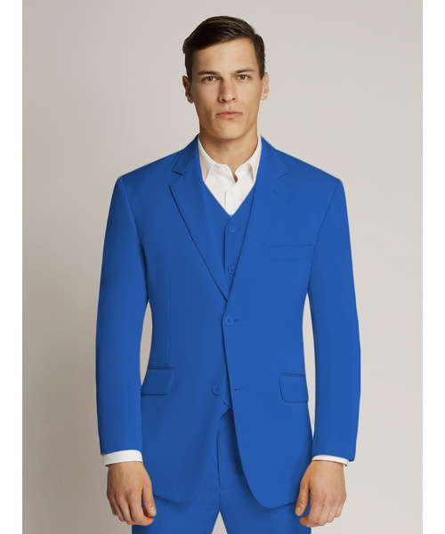 Vegas Fine Twill Plain Microfibre Suit Royal Blue