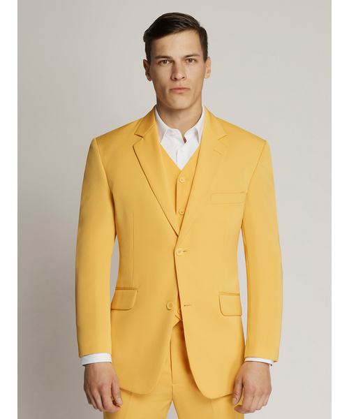 Vegas Twill Plain Microfibre Suit Yellow