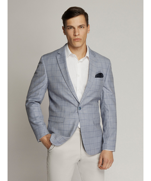 George Windowpane Check Slim Fit Jacket