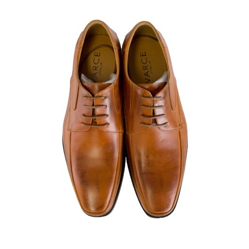 Varce Italia Dylan Lace Up Tan Leather Shoes