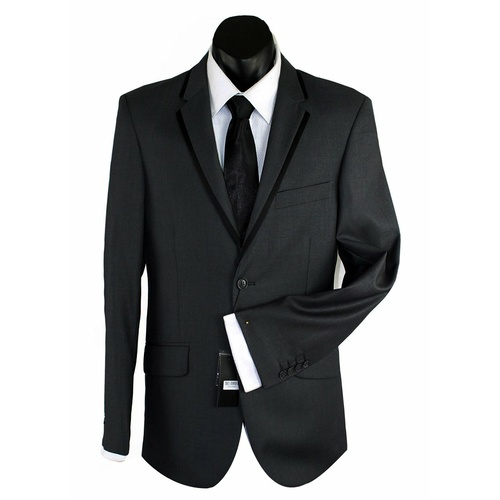 Bond Wool Blend Trim Suit Black