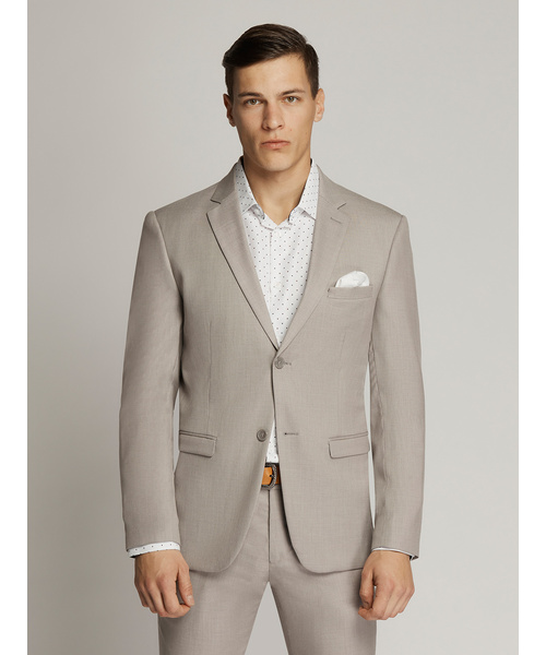 Harrison Plain Textured Suit Fawn