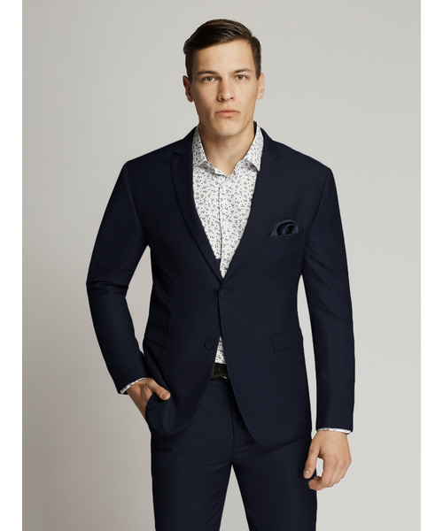 James Fine Twill Suit Navy